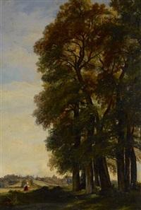 village en lisière de forêt by charles théodore sauvageot