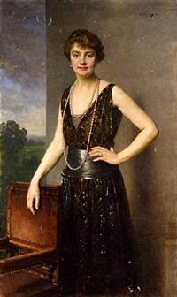portrait de femme by heinrich von angeli