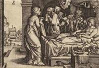 der tod des reichen mannes, pl.2 (from parabel vom reichen mann und armen lazarus) by georg pencz
