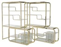 cantilever etageres (pair) by milo baughman