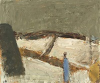 landscape with figure by johannes hofmeister