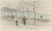 trouville au bord de la mer (+ 2 others; 3 works) by randolph caldecott