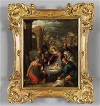 l'adorazione dei pastori by flemish school