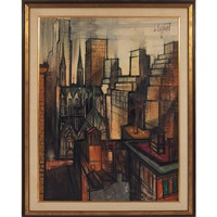 city scene by regis (count) de bouvier de cachard