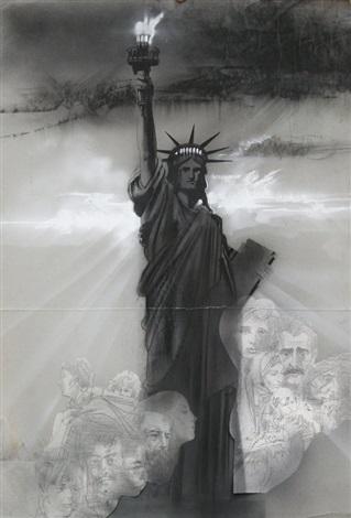 statue of liberty by hiro yamagata