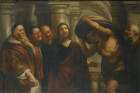 christ healing the paralytic at the pool of bethesda (collab. w/workshop) by jacob jordaens