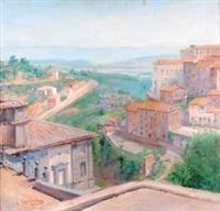 veduta di soriano nel cimino da palazzo chigi by umberto coromaldi