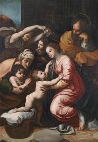 die große heilige familie franz i. (after raffael) by girolamo muziano