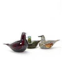 three bird's figures (3 works) by oiva toikka