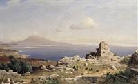 blick über alte ruinen auf den aetna by michael haubtmann