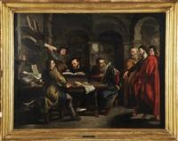 a vocação de são mateus by abraham van diepenbeeck