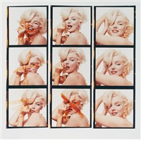 nine marilyns with necklaces (from the last sitting for vogue) by bert stern