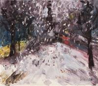 schneefall unter den linden by rainer fetting