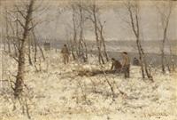 winterlandschaft by johann jungblut