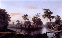 the bayou at twilight by american school-louisiana (19)