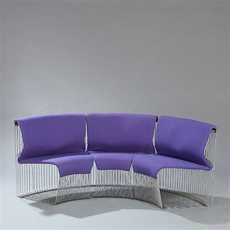 pantonova conic sofa modules set of 3 by verner panton