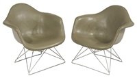 shell chairs (pair) by charles eames
