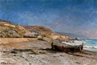 an der küste von bordighera, italien by karl lorenz rettich