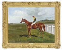 lord edward ii with jockey up by alfred grenfell haigh