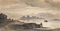a welsh lake at dusk by john varley