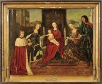 nossa senhora com o menino jesus e fidalgos by flemish school (16)