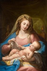 virgen con el niño by d. francisco bayeu y subias
