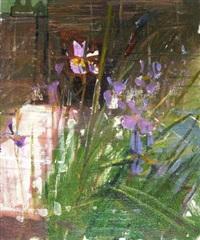 iris, sibirica, spring rain by richard pikesley