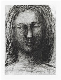 head of a girl ii * head of a girl iii (2 works) by henry moore