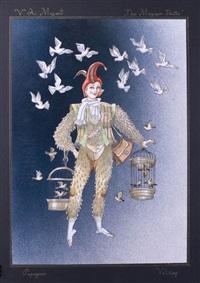 zauberflöten - papageno by rafail adolfovitch volsky