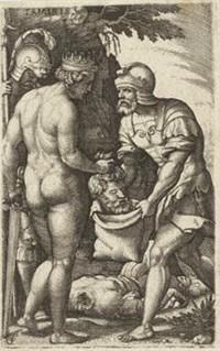 tomyris verbirgt das haupt von cyrus, pl.1 (from heldinnen der griechischen mythologie) by georg pencz