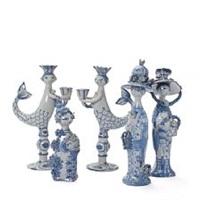 five figures modelled in the shape of women and mermaids by bjørn wiinblad