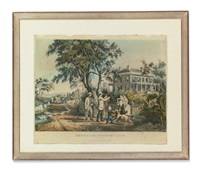 a group of five prints by currier & ives (publishers)