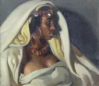 bildnis einer marokkanerin by josé cruz herrera