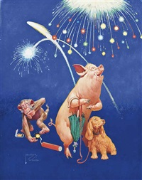 fireworks (+ the see-saw; 2 works) by lawson wood