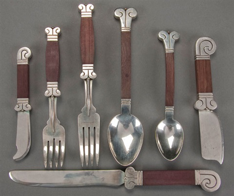 flatware set of 73 by hector aguilar