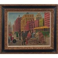philadelphia street scene by george biddle