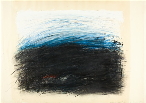 abstrakte landschaft by arnulf rainer