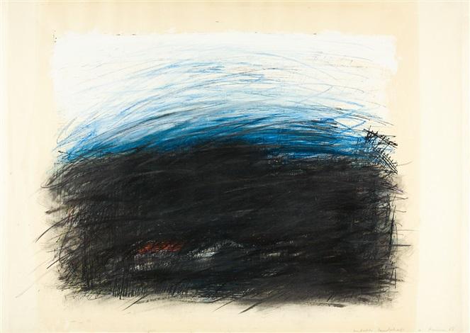 abstrakte landschaft by arnulf rainer