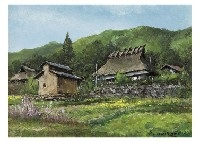 spring in mountain village (+ 2 others; 3 works) by shigeo ishikawa