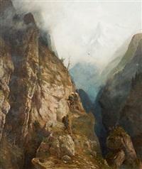 braconniers dans les alpes by franz adolf christian müller