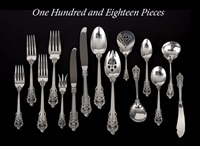 grand baroque flatware (designed by william s. warren) (set of 118) by r. wallace & sons (co.)