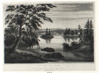 view near fort miller, pl.10 by john hill