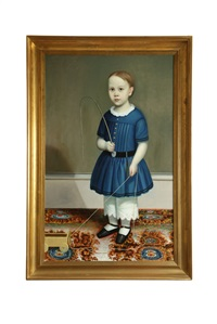 portrait of a boy by joseph whiting stock