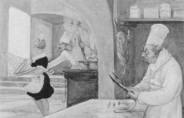 der aufdringliche koch by gaston lebeuze