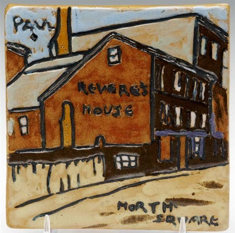 paul reveres house north square tile by paul revere