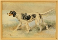 dogs (pair) by edmund henry osthaus
