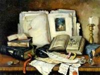 literarisches stilleben by czene janos apatfalvi