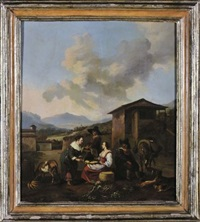 scena di mercato by hendrick mommers