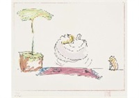 various lithographs (a set of 3) by john lennon