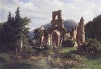 klosterruine allerheiligen im bad. schwarzwald by adolf rudolf holzhalb